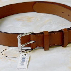 Polo Ralph Lauren Men's Belt Tan Leather 36 NEW